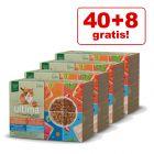 40 + 8 gratis! 48 x 85 g Ultima kattevådfoder