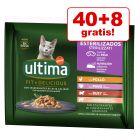 40 + 8 gratis! 48 x 85 g Ultima Katzenfutter