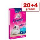 20 + 4 gratis! 24 x 15 g Vitakraft Cat Liquid Snack