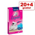 20 + 4 gratis! 24 x 15 g Vitakraft Cat Liquid-Snack