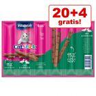 20 + 4 gratis! 24 x 6 g Vitakraft Cat Stick Mini