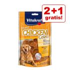 2 + 1 gratis! 3 x 80 g Vitakraft CHICKEN Monetine al Pollo