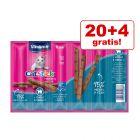 20 + 4 gratis! 24 x 6 g Vitakraft Stick Katzensnacks