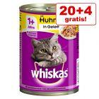 20 + 4 gratis! 24 x 400 g Whiskas 1+ kattefoder