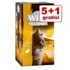 5 + 1 gratis! 6 x 85 g Wild Freedom Adult vaschette