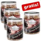 3 + 1 gratis! 4 x 60 g Wild Freedom Freeze-Dried Snack Fegato di Manzo