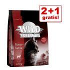 2 + 1 gratis! 3 x 400 g Wild Freedom Tørfoder