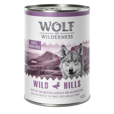 9 + 3 gratis! 12 x 400 g Wolf of Wilderness