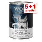 5 + 1 gratis! 6 x 400 g Wolf of Wilderness