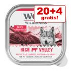 20 + 4 gratis! 24 x 300 g Wolf of Wilderness Adult