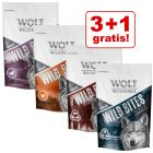 3 + 1 gratis! 4 x 180 g Wolf of Wilderness hundesnack Wild Bites