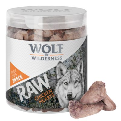 2 + 1 gratis! 3 x 70 / 90 g Wolf of Wilderness - Snackuri RAW (liofilizate)