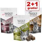 2 + 1 gratis! 3 x 180 g Wolf of Wilderness Wild Bites