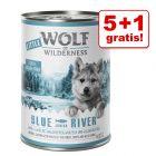 5 + 1 gratis! 6 x 400 g / 6 x 800 g Little Wolf of Wilderness Junior