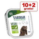 10 + 2 gratis! 12 x 150 g Yarrah Bio Hundefutter