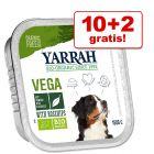10 + 2 gratis! 12 x 150 g Yarrah Bio Hundefutter 1,8 kg