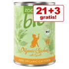 21 + 3 gratis! 24 x 400 g zooplus Bio