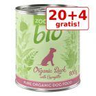 20 + 4 gratis! 24 x 800 g zooplus Bio