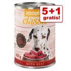 5 + 1 gratis! 6 x 800 g zooplus Classic
