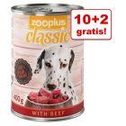 10 + 2 gratis! 12 x 400 g zooplus Classic