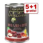 5 + 1 gratis! 6 x 400 g zooplus Selection Hundefutter