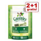 2 + 1 gratis! 3 x Greenies Snack - Igiene Dentale