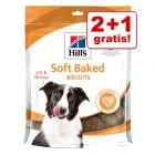 2 + 1 gratis! 3 x Hill's snackuri pentru câini
