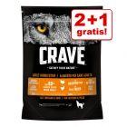 2 + 1 gratis! 3 x 1 kg Crave Droogvoer voor Honden