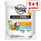 1 + 1 gratis! 2 x 1,4 kg Nutro Adult kattetørfoder