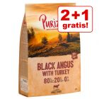 2 + 1 gratis! 3 x 1 kg Purizon Hundetrockennahrung