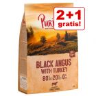2 + 1 gratis! 3 x 1 kg Purizon REȚETE NOI hrană uscată câini