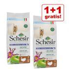 1 + 1 gratis! 2 x 9,6 kg Schesir Natural Selection Adult Medium & Large