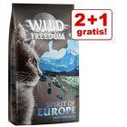 2 + 1 gratis! 3 x 2 kg Wild Freedom Hrană uscată
