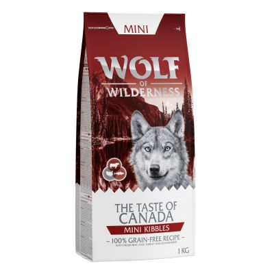 2 + 1 gratis! 3 x 1 kg Wolf of Wilderness Adult
