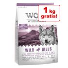 4 + 1 gratis! 5 x 1 kg Wolf of Wilderness Crocchette per cani