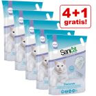 4 + 1 gratis! 5 x 5 l Sanicat kattegrus