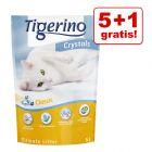 5 + 1 gratis! 6 x 5 l Tigerino Crystals kattegrus