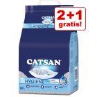 2 + 1 gratis! 3 x Lettiera  Catsan