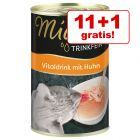 11 + 1 gratis! 12 x 135 ml Miamor Trinkfein Vitaldrink supițe pisici!