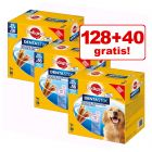 128 + 40 gratis! 168 x Pedigree Dentastix