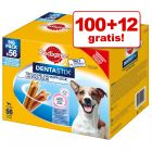 100 + 12 gratis! 112 x Pedigree Dentastix