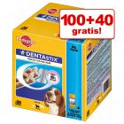 100 + 40 gratis! 140 x Pedigree DentaStix