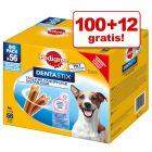 100 + 12 gratis! 112 x Pedigree Dentastix / Dentastix Fresh Hundesnacks