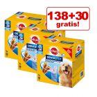 138 + 30 gratis! 140 x Pedigree Dentastix snackuri pentru câini