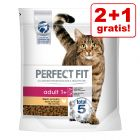 2 + 1 gratis! 3 x Perfect Fit kattetørfoder