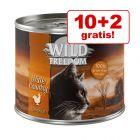 10 + 2 gratis! 12 x Wild Freedom Alimento umido per gatti