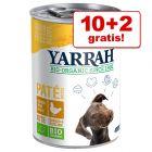 10 + 2 gratis! 12 x Yarrah Bio alimento biologico