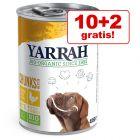 10 + 2 gratis! 12 x Yarrah Bio Conserve pentru câini