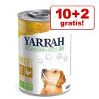 10 + 2 gratis! 12x Yarrah Bio Nassfutter