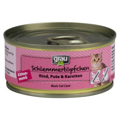 Grau Gourmet Kitten with Beef, Turkey & Carrots